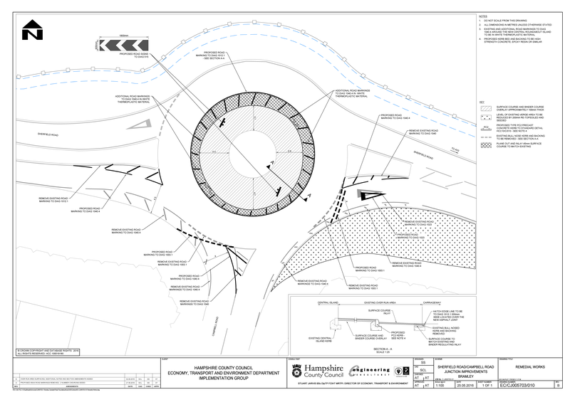 Junction of Sherfield Road and Campbell Road Roundabout Improvements